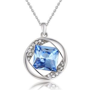 Jewelry - Blue Crystal Necklace New